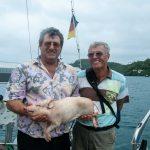 Helmut und Axel mit Schweinchen